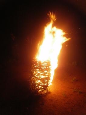 Fire Stack, Fire Sculpture, Mt Narrier, 2011