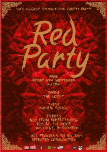 red-party-poster